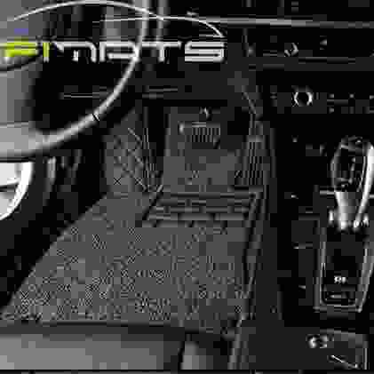 Diamond Car Mats Black and Gray Floor Set