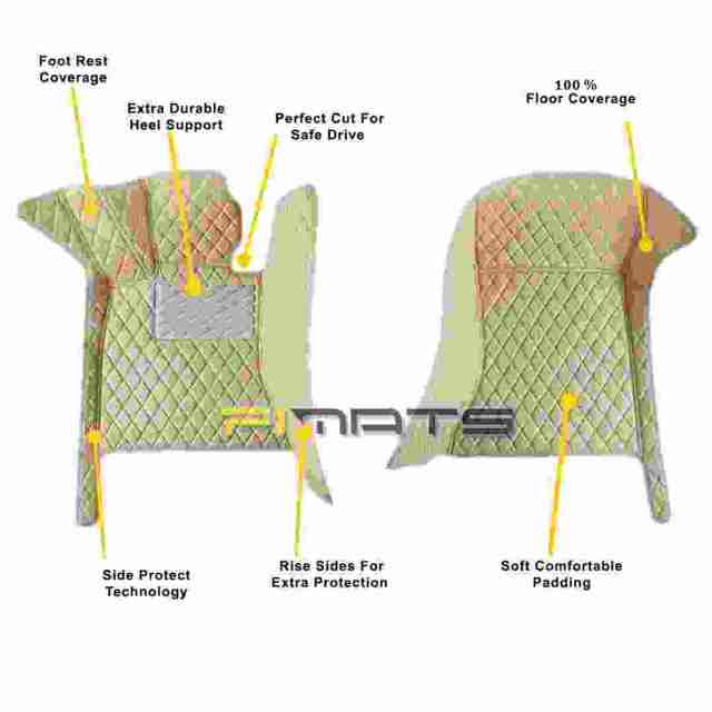 beige front seats Custom Made Diamond car mats