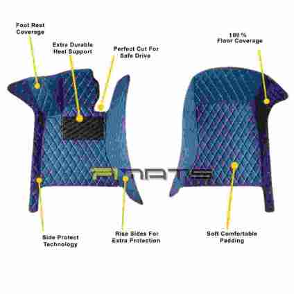 blue front seats Custom Made Diamond car mats