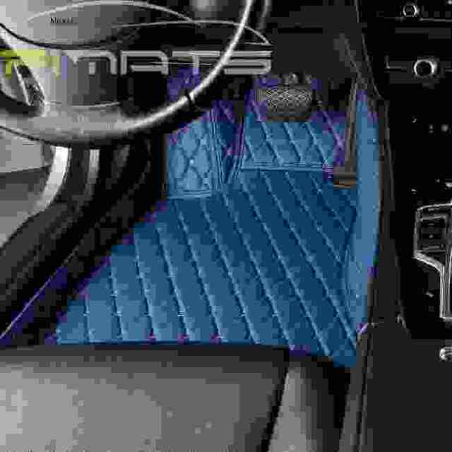 Diamond Car Mats Blue Floor Set