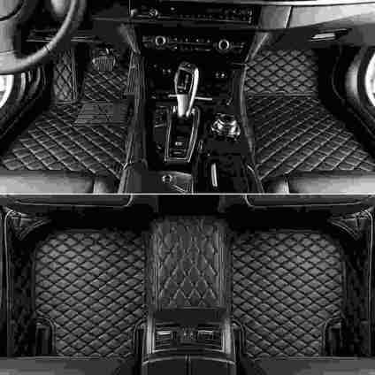 Black & Black Diamond Car Mats