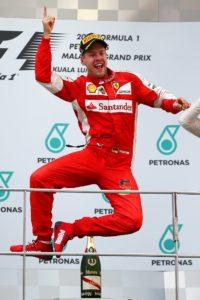 Vettel sur le podium - Malaisie 2015