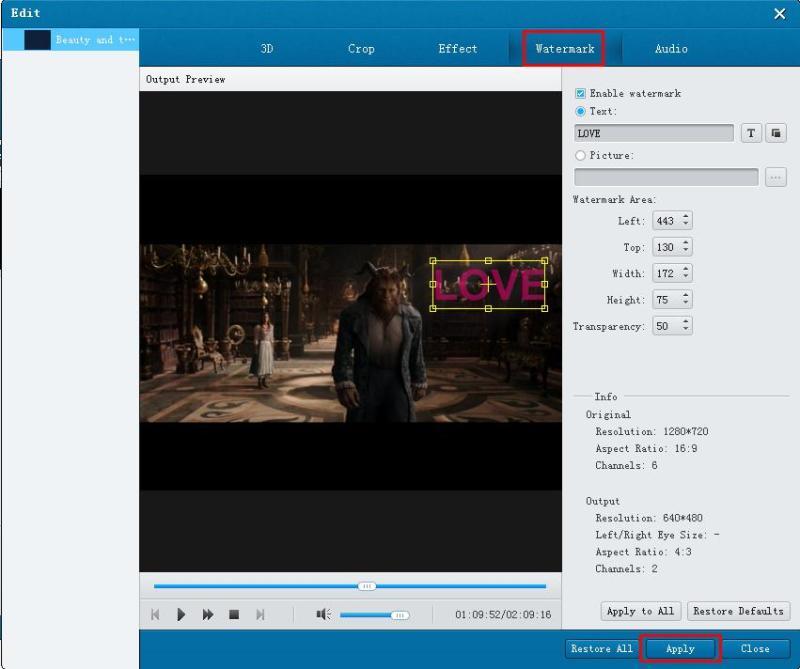 Edit DVD
