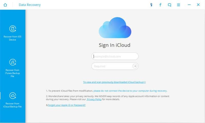 Sign In iCloud Recovery Mode