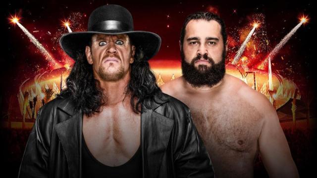 The Undertaker vs Rusev Casket Match Prediction.