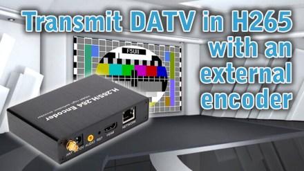 DATV: Use H265 external encoder and PlutoDVB