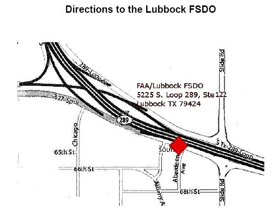 Lubbock FSDO-Directions to the Office