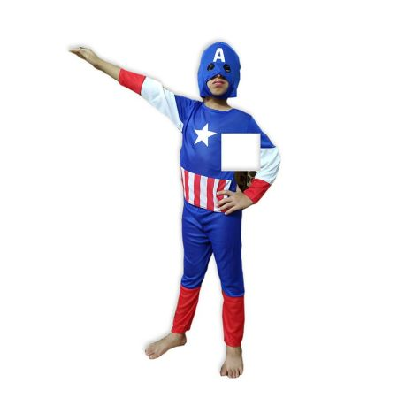 Kids Captain America Costume Fancy Dress on Rent