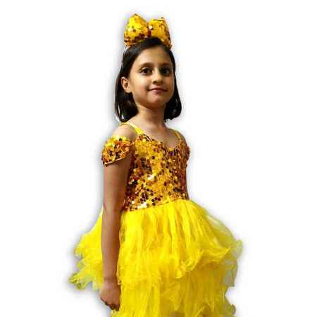 Hire Golden Yellow Frock Western Dance Costume