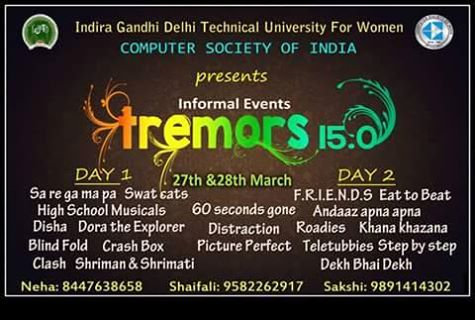 tremors informal events