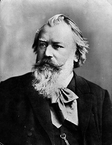 Johannes Brahms, a Romantic era composer, born 1833, died 1897.  This photo dates from 1889.