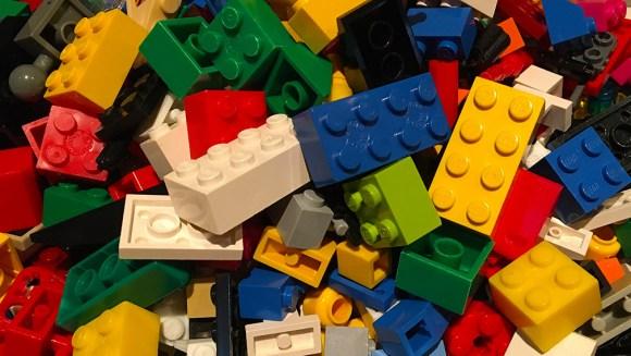 Building blocks including Lego bricks
