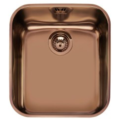 Single Bowl Stainless Kitchen Sink Table For Small Smeg Um45ra Undermounted Copper ...