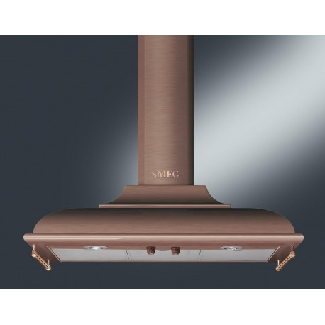 SMEG WALL MOUNTED CHIMNEY HOOD KC19RAE COPPER AESTHETIC CORTINA 90