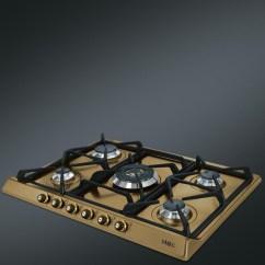 Kitchen Island With Range Budget Cabinets Smeg Gas Hob Sr775ot Brass Cortina Line 70 Cm |fab Appliances