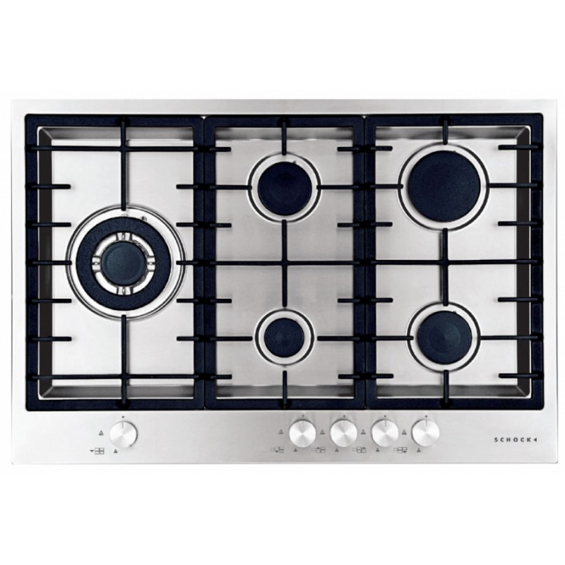 SCHOCK GAS HOB FILO PC75AVG FLUSH FITTED STAINLESS STEEL