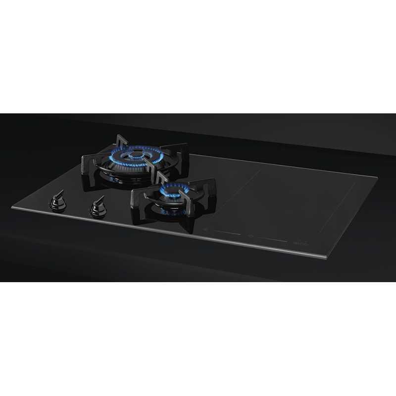 SMEG PM6721WLDX GASINDUCTION HOB DOLCE STIL NOVO BLACK CERAMIC GLA
