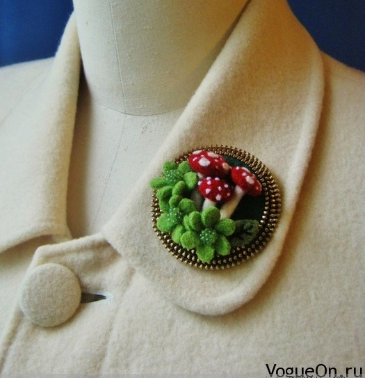 19 Ways to Make Felted Zipper Brooch