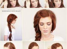 DIY Bohemian Side Braid Hairstyle - Fab Art DIY