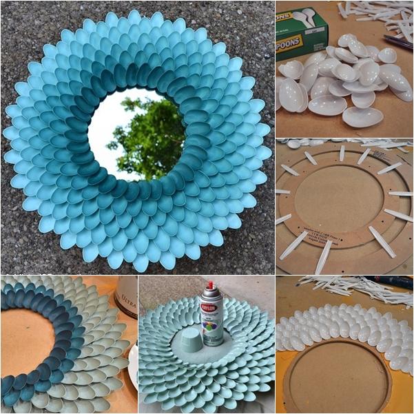 DIY Decorative Plastic Spoon Mirror  DIY Tutorials