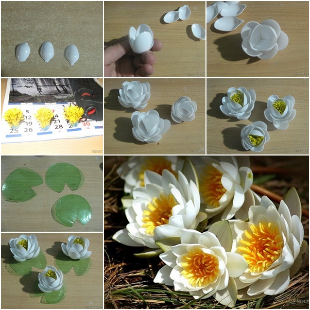 10 clever crafts using plastic spoons - Beautiful lily
