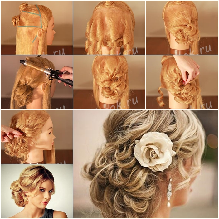 How to Make RedCarpet Looking Updo Wedding Hairstyle