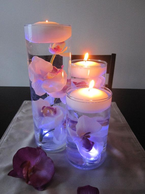 Low Cost Wedding Centerpiece Ideas Blissbaby Kiss With Floating Candles Decorations Images Center Piece