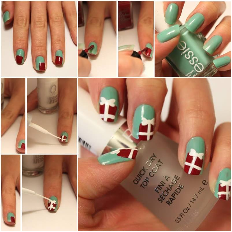 View Images Cute Christmas Present Nails Cutest Nail Art