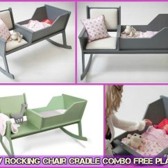 Rocking Chair Crib Combo Knoll Barcelona Replacement Cushions Diy Cradle Baby Free Plan Tutorial