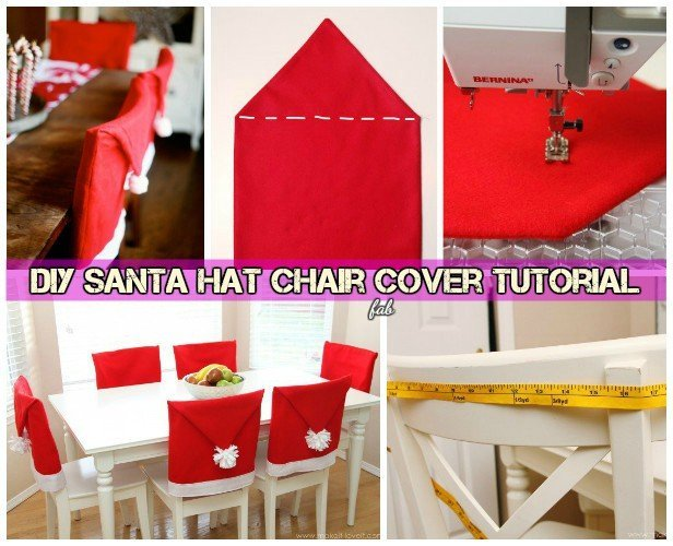 chair covers diy fabric to cover dining chairs festive santa hat table setting video