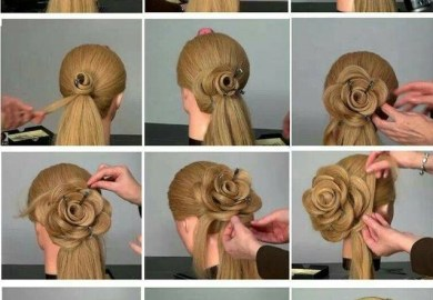 Easy Prom Wedding Hairstyle Braided Flower Updo For Long Hair Tutorial