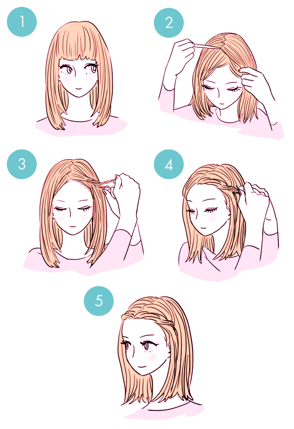 Simple tutorials to style hair fringe1