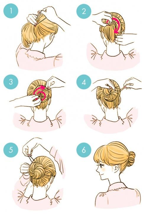 Simple tutorials to style hair fringe15