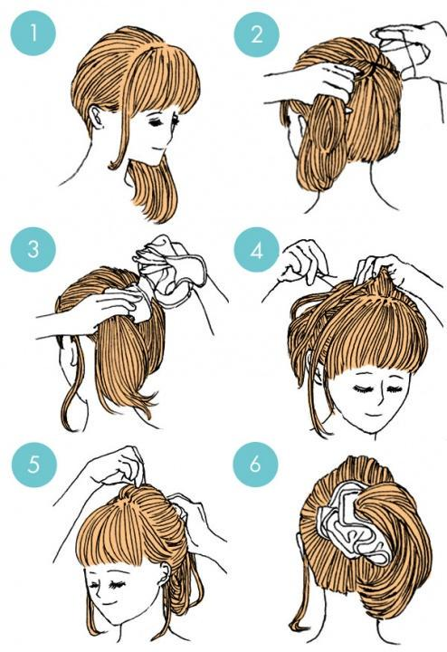 Simple tutorials to style hair fringe16