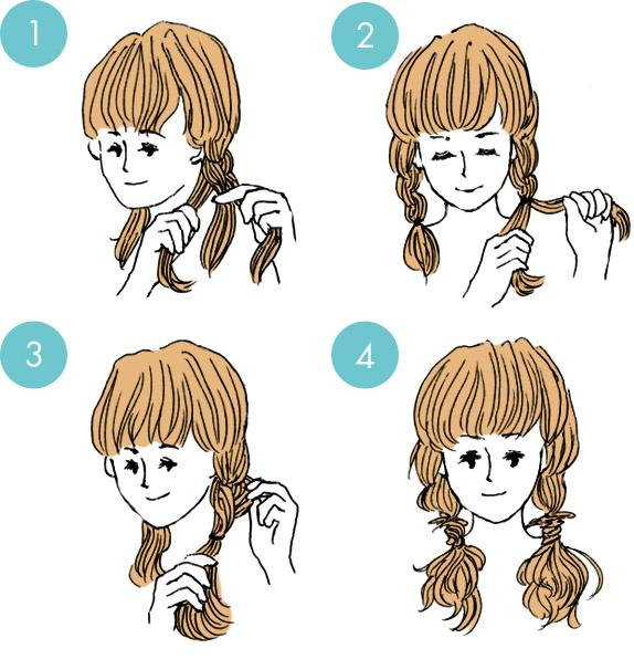 Simple tutorials to style hair fringe20