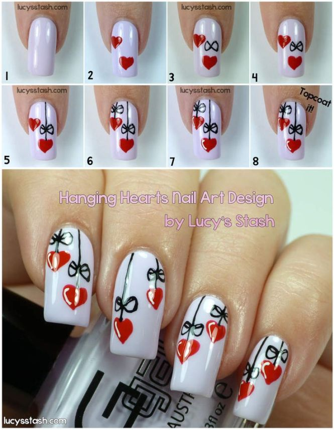 Art Tutorials For S Best Easy Omaphie Kisses Valentine Day Nail Tutorial This