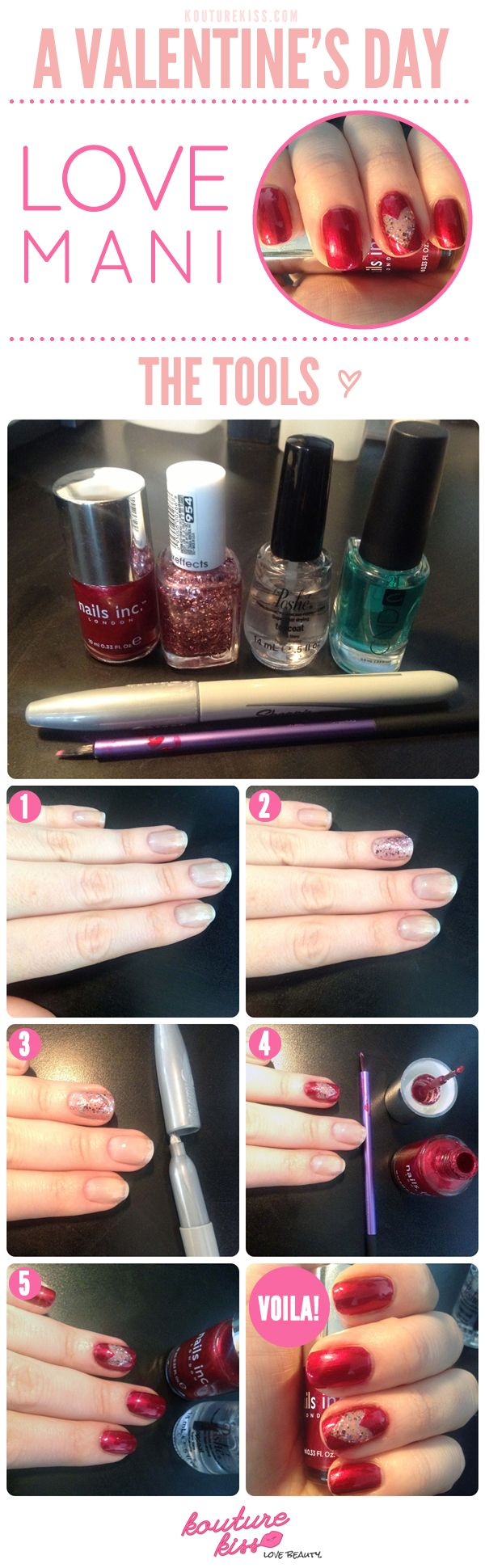 Very Easy Valentine S Day Nail Art Tutorials 2016 For Beginners Learners
