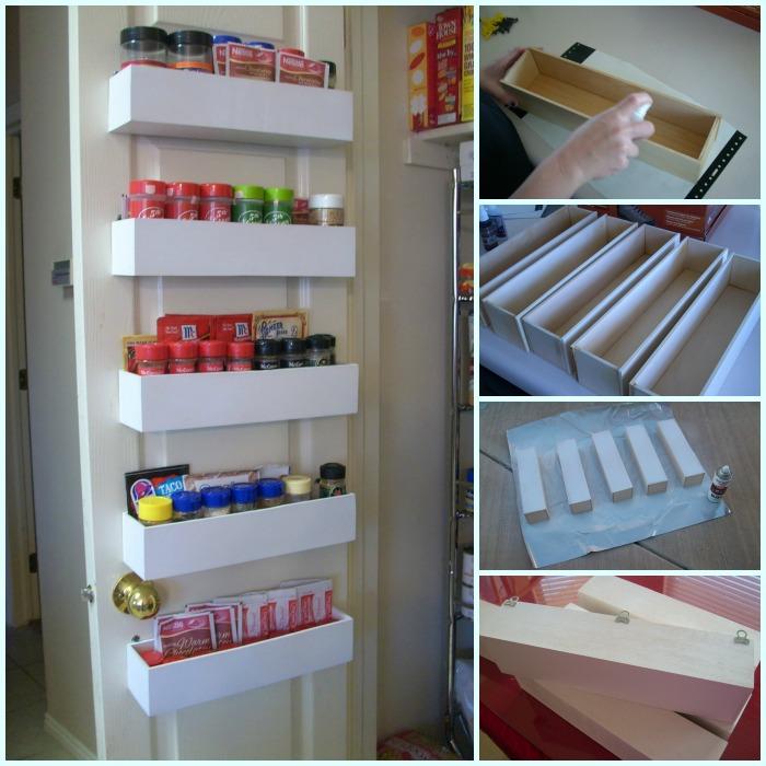 door pantry spice rack diy tutorial