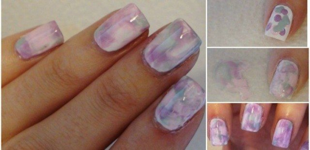 How To Diy Watercolor Marble Nails Without Water