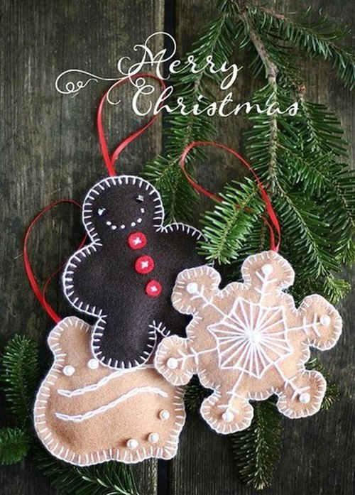 Christmas Felt Decorations Templates