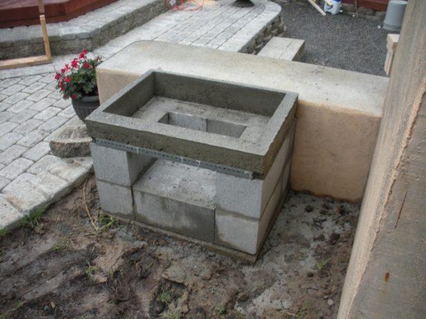 de bricolaje Morgan abierto de la parrilla Foto Tutorial - Plan de hormigón parrilla del patio trasero