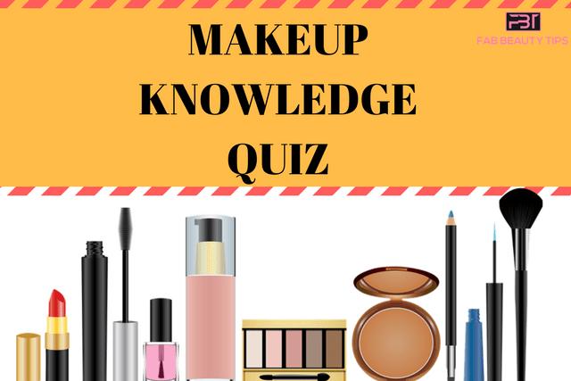 makeup knowledge quiz, makeup quiz
