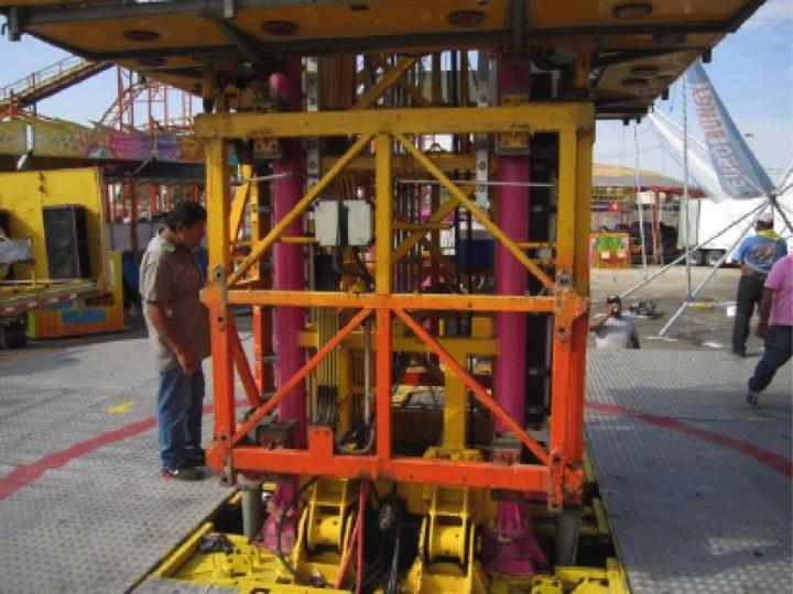 MEGA DROP Ride Inspection Mexicali