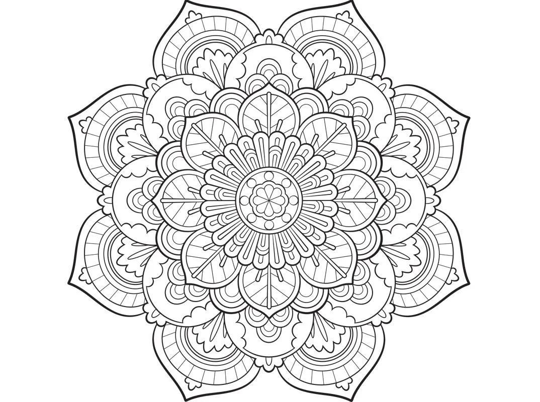 Malvorlagen Mandala