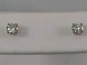 14k White Gold, .58ctw Diamond Stud Earrings - $1,400