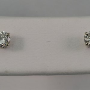 14k White Gold, .58ctw Diamond Stud Earrings - $1,400