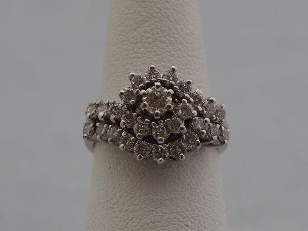 14k White Gold Wedding Set, .98ctw Diamonds - $2,000