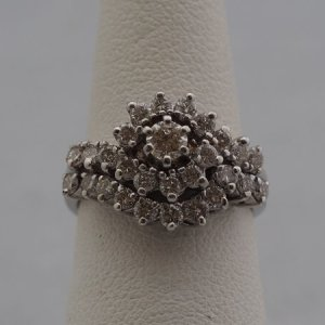 14k White Gold Wedding Set, .98ctw Diamonds - $2,000