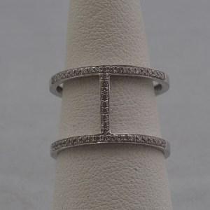 14k White Gold Ring, .12ctw Diamonds - $300