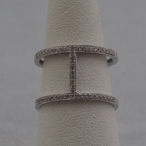 14k White Gold Ring, .12ctw Diamonds - $300